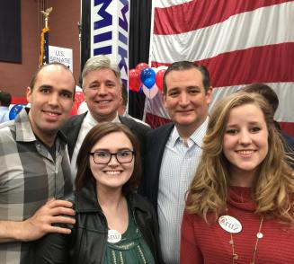 Meeting with Ted Cruz at the Mike Lee campaign event